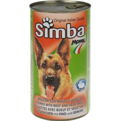 Κονσέρβα σκύλου βοδινό Simba 1230gr