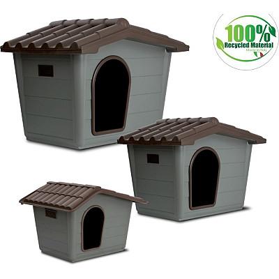 Eco Σπίτι Σκύλου Small 60*50*41cm Γκρι